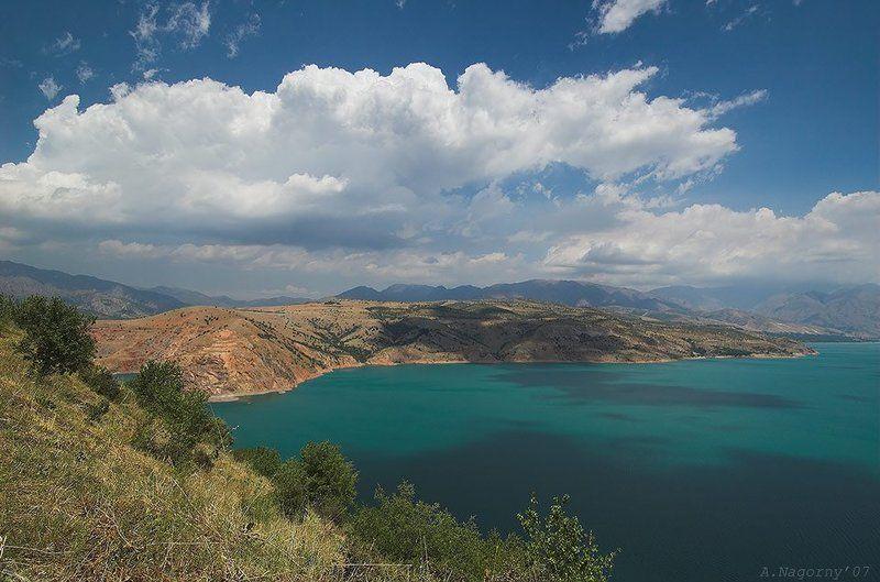пейзаж, горы, облако, узбекистан, чарвакское водохранилище, ташкент Я к тебе прилечу!..photo preview