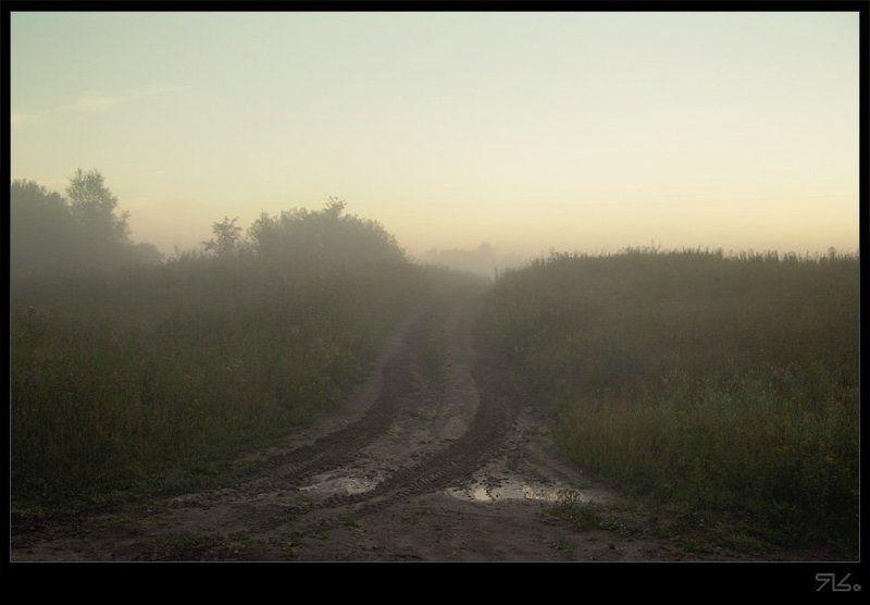дорога, туман, утро, деревня, ...Выхожу один я на дорогУ...photo preview
