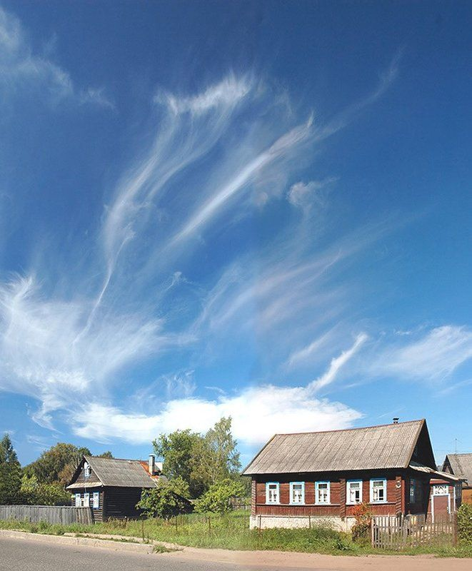 небо, домики, бологое ***photo preview