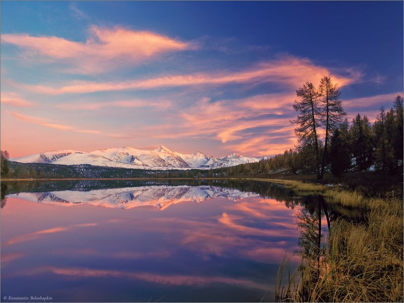 алтай, озеро, закат, осень, курайский хребет, mamiya rz67, константин белошапкин В тиши перевала IIphoto preview