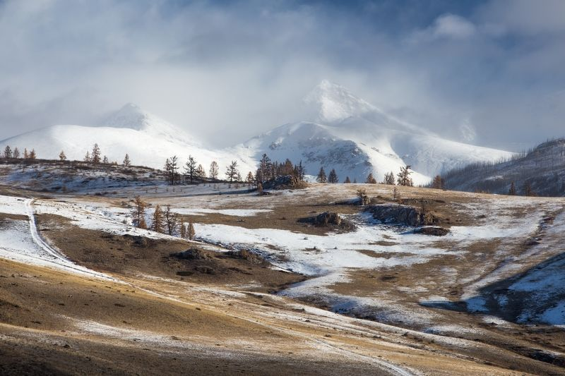 республика алтай, горный алтай, курай, кош-агач, горы, октябрь Курайскими дорогами...photo preview