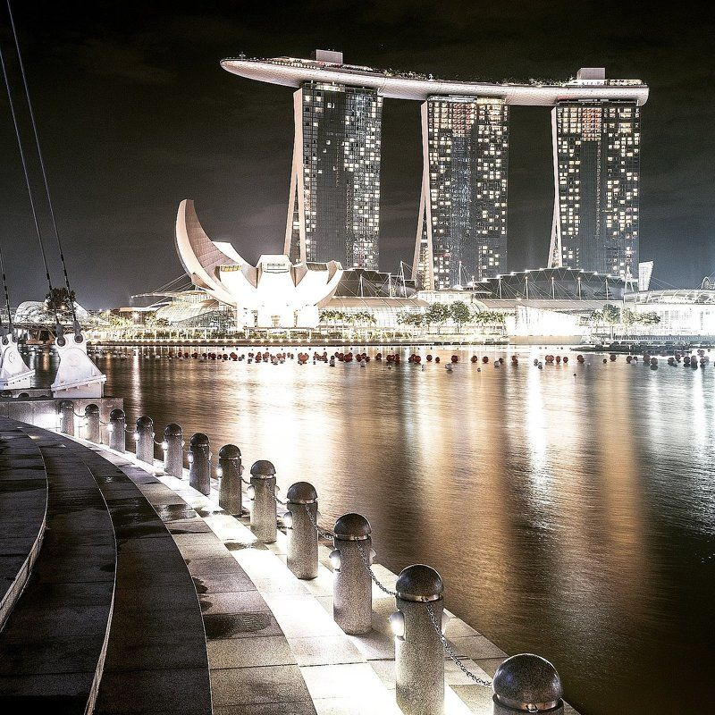 photooftheday, marinabaysands, marina, bay, port, seascape, landscape, architecture, skyscraper, artbuilding, building, lights, reflection, night, travel, trip, singapore 26-11-2014 Marina Bay Sands, Singaporephoto preview