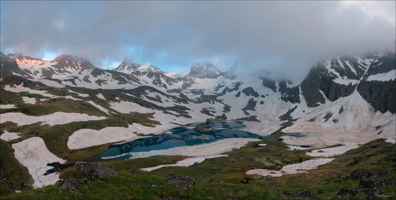 Озеро, безмолвия, КЧР, Россия, Кавказ, горы Озеро безмолвияphoto preview