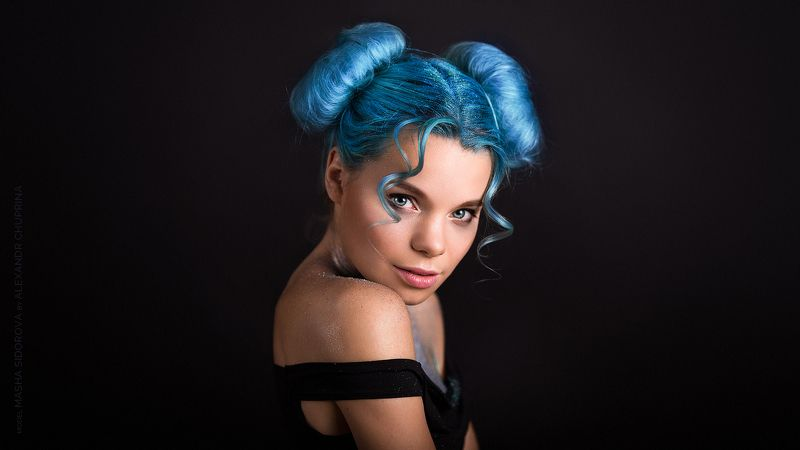 portrait art girl alexandr chuprina портрет арт девушка александр чуприна Blue Skyphoto preview