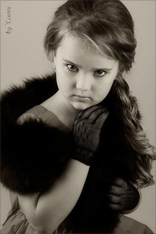 леди, модель, ретро, маленькая, девочка Маленькая ледиphoto preview