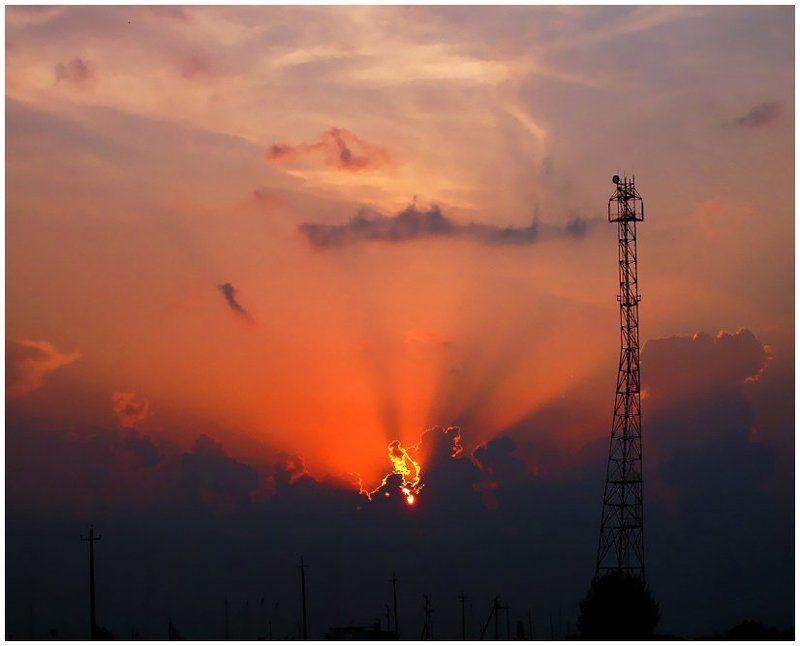 закат,небо,солнце,лучи,удмуртия История одного закатаphoto preview