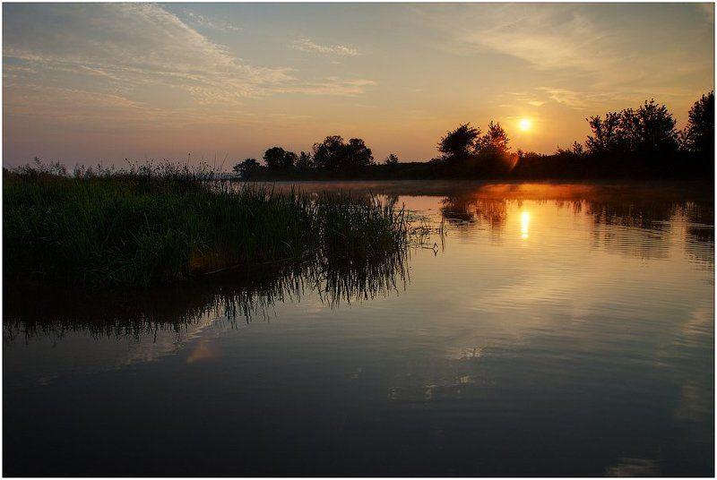 Про утро, речку и восход..photo preview