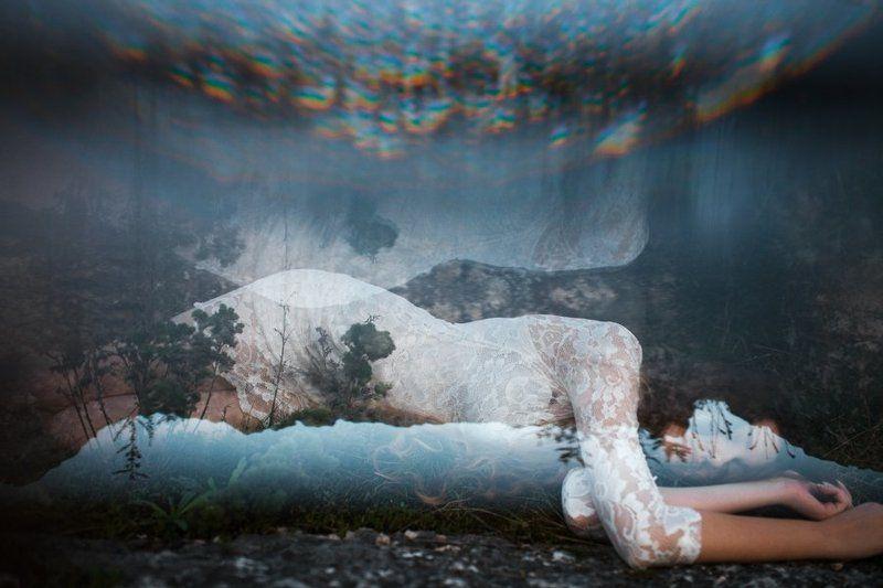 Prism, Абстракция, Вечер, Девушка, Эффекты prismaticphoto preview