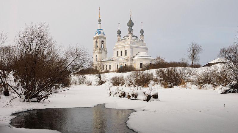 село савинское, зима, храм, снег, ярославль Сельские мотивыphoto preview