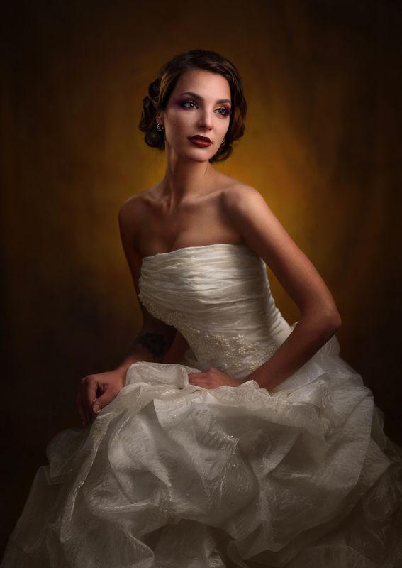 девушка, студия, свет, тень, объем, невеста ***photo preview