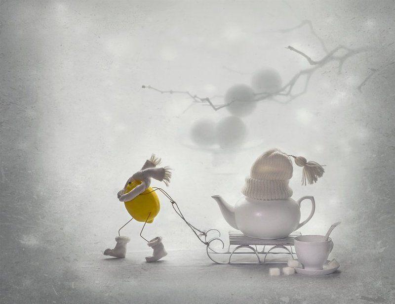натюрморт, настроение, зима, лимон, улыбка Зимний чай ... с лимоном )photo preview