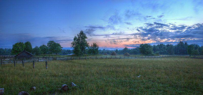 панорама Деревенский пейзаж.photo preview