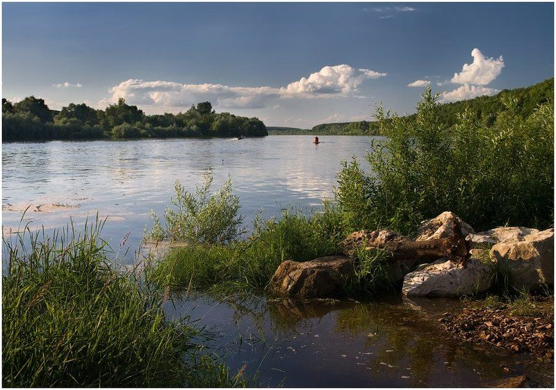 река, ока, берег, портрет, церковь, пейзаж, бехово, девушка, село На Окских берегахphoto preview