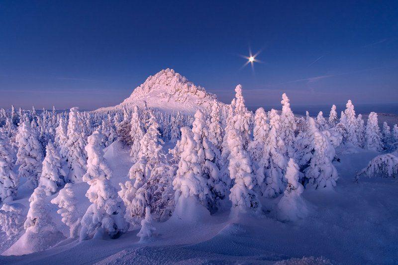 таганай, зима, луна, урал Лунное безмолвиеphoto preview