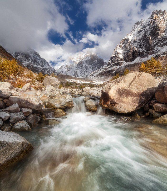 ушба, грузия, сванетия Ледник Ушбаphoto preview