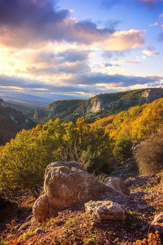 landscape, nature  Autumn sunsetphoto preview