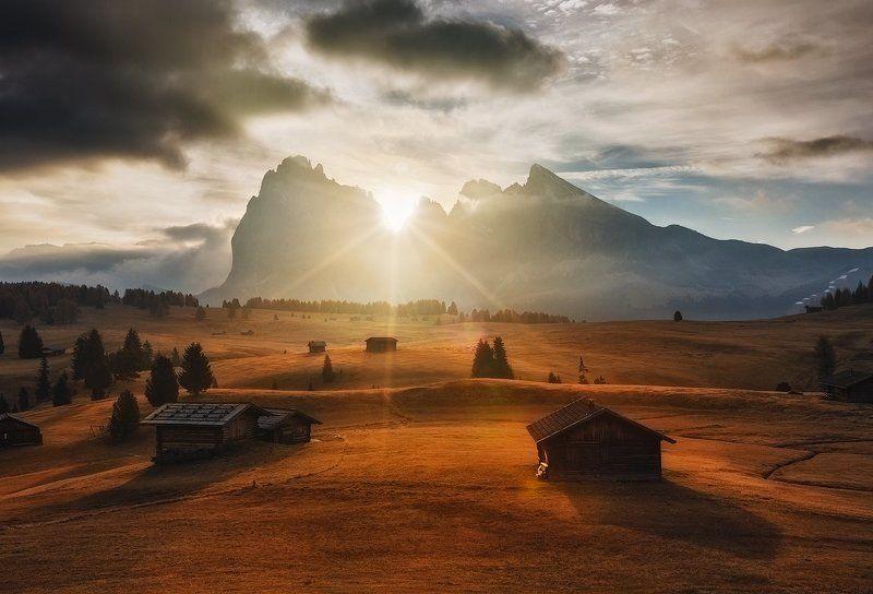 dolomites, sunrise, alps, Seiser Almphoto preview