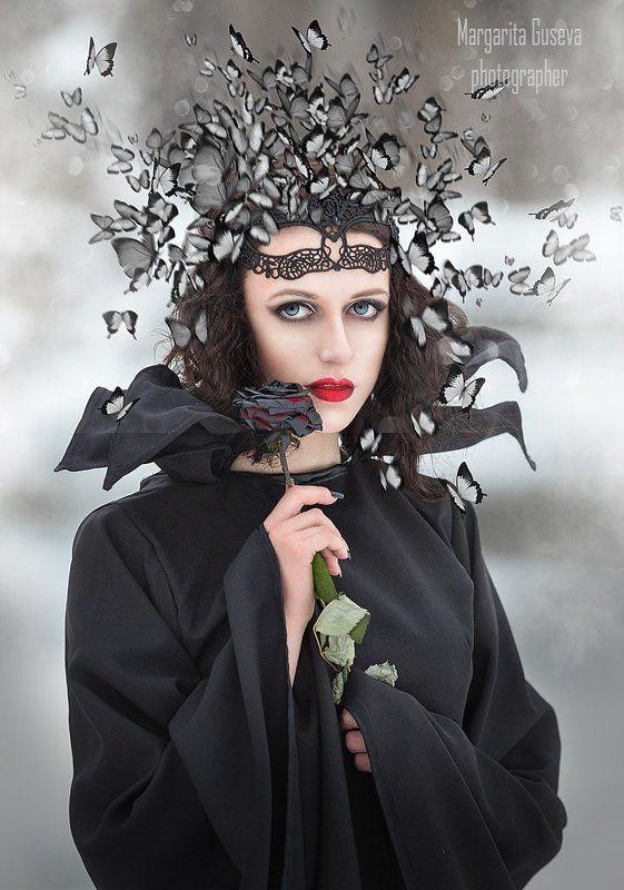 маргарита гусева, любовь, бабочки, черная роза, малифисента, love Любовь....photo preview
