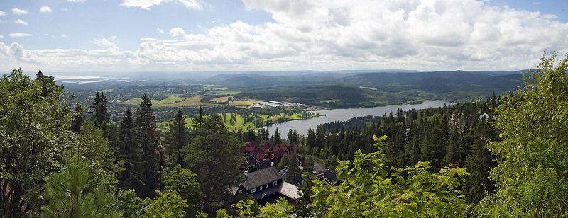 панорама, пейзаж, осло, норвегия, горы, фъорды Пригород Ослоphoto preview