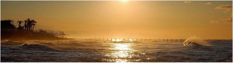 утро, волна, пирс, море_средиземное Утро (1)photo preview