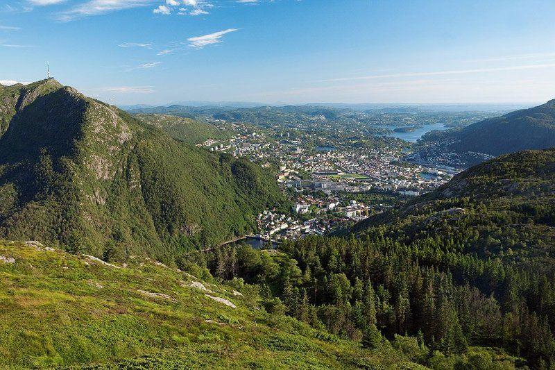 норвегия, берген, пейзаж, горы Берген уже не за горамиphoto preview
