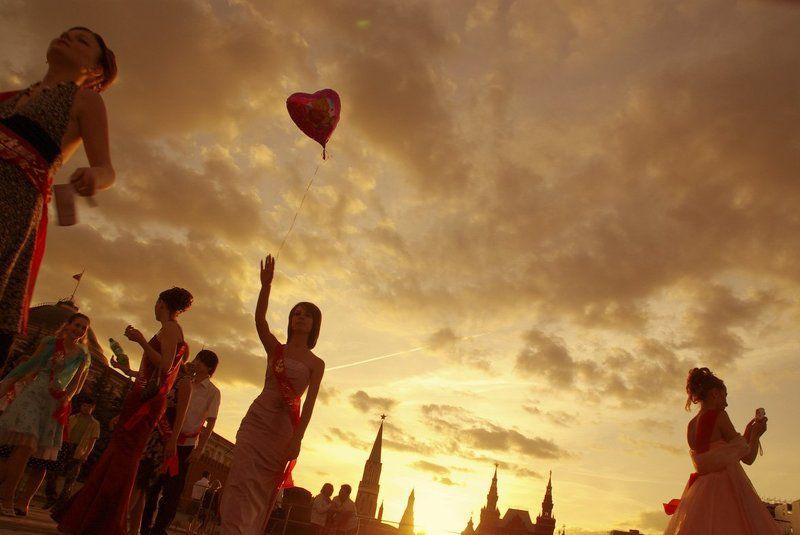 красная площадь, праздник. Выпускной.photo preview