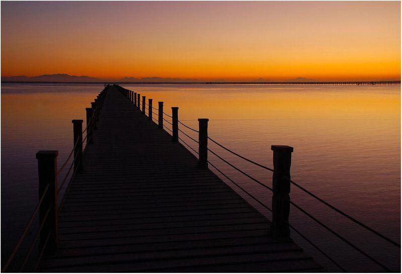 утро, рассвет, пирс, море_красное, синай Дорога из Ночи в Деньphoto preview