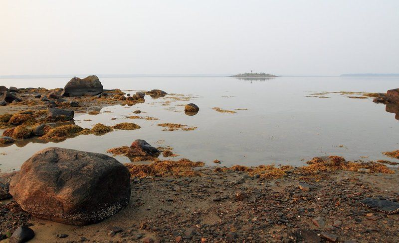 карелия, белое море, острова, тишина, штиль, камни, прилив Вода прибывает...photo preview