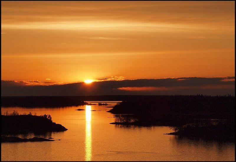 вода, небо, вечер, закат, и, т.д., и, т.п. растопило Солнце северную скупостьphoto preview