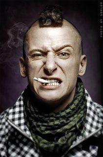 * Smoking man *