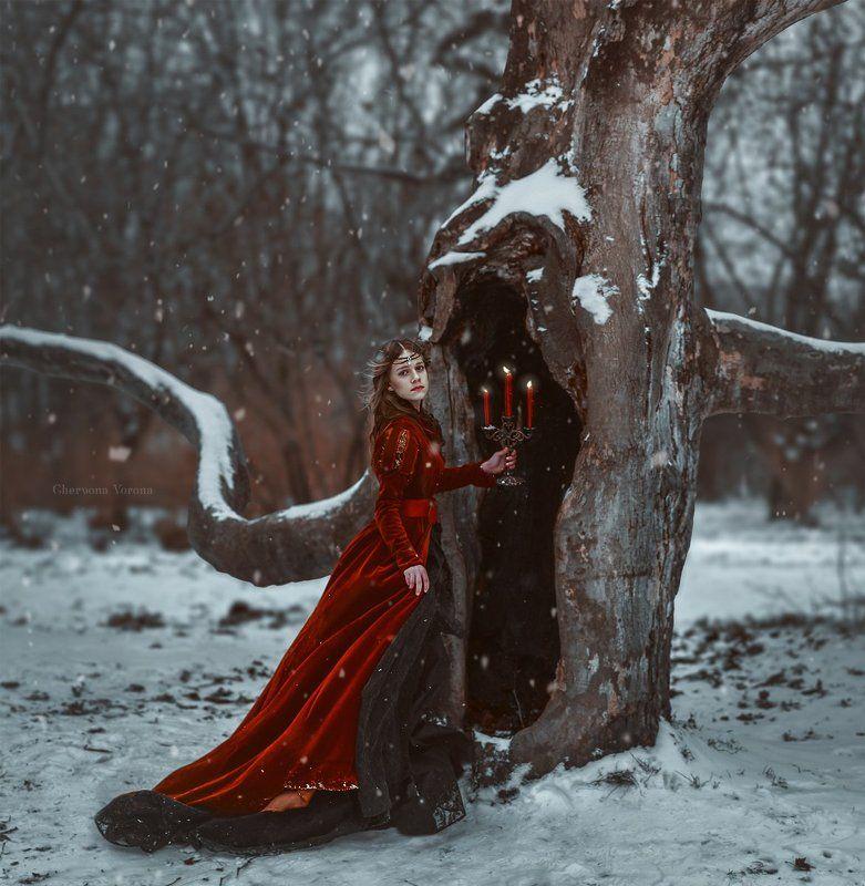 зима, снег, фентези Сонная Лощинаphoto preview
