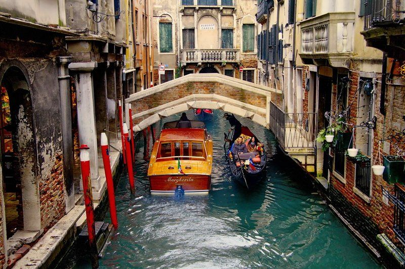 венеция Узкие улочки Венецииphoto preview