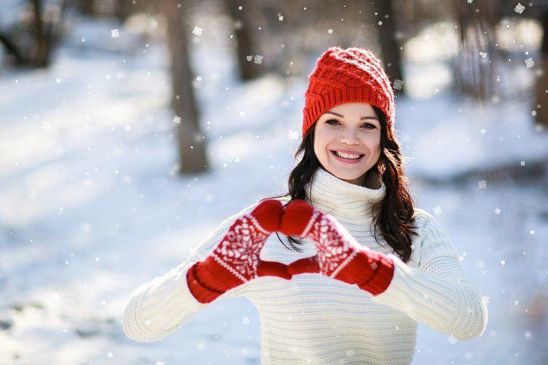 зима, девушка, фотосесси, симферополь, крым, свитер, варежки, снег, парк, красота Зимний позитивphoto preview