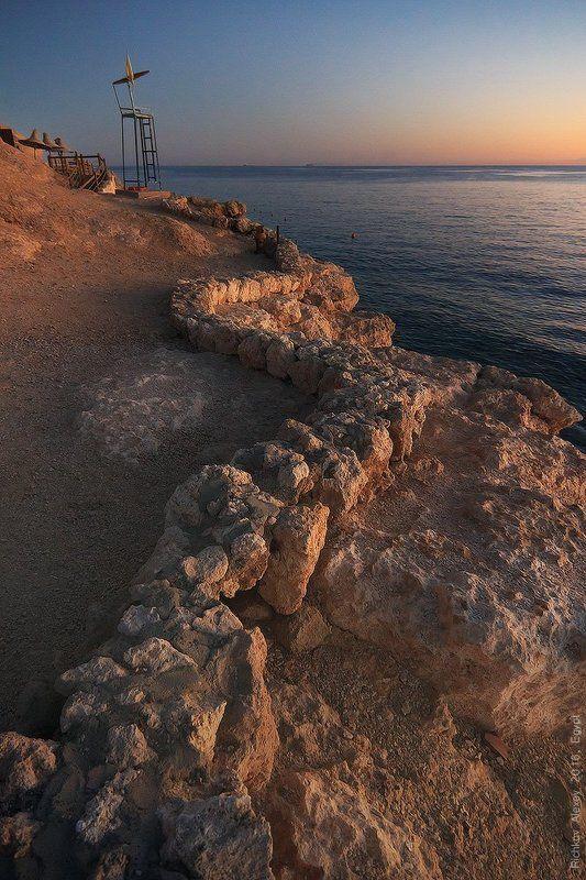 закат, Шарм-эш-Шейх, вечер, тепло, море, красное море,   Каменная змейкаphoto preview