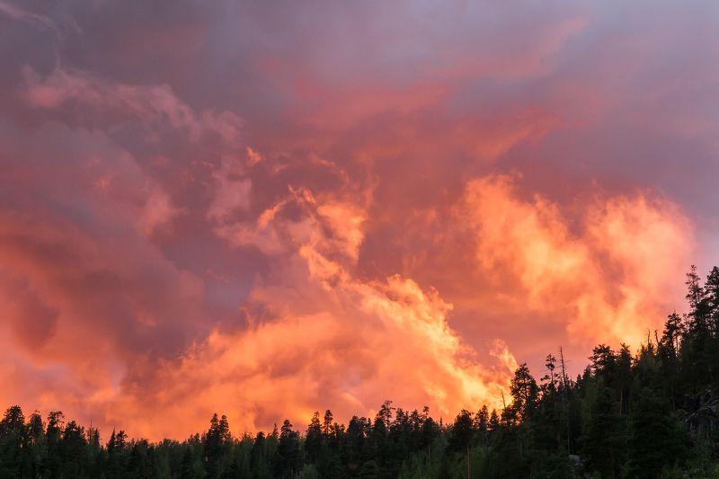 небо пожар закат Firephoto preview