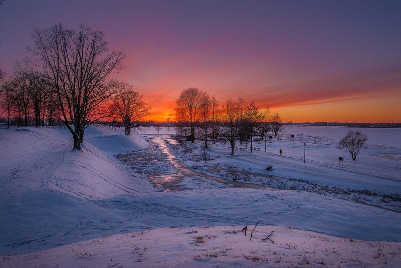 Wintry sunsetphoto preview