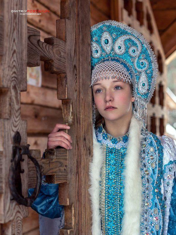 дубна, зима, портрет девушки, россия, снегурочка Жила-была снегурочка...photo preview