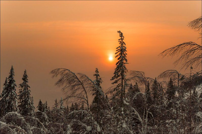 закат, зима, уван, урал В погоне за Солнцемphoto preview