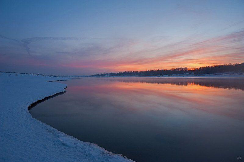 волга, река, весна, вода, закат Итильphoto preview