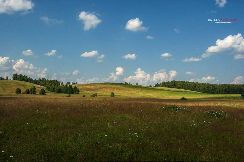 Лето, Пейзаж, Подмосковье, Поле, Природа, Россия, Сенокос Новая заставка для Windows;)photo preview
