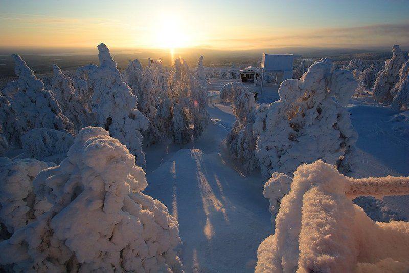 финляндия, вуокатти, горные, лыжи Вуокатти утроphoto preview
