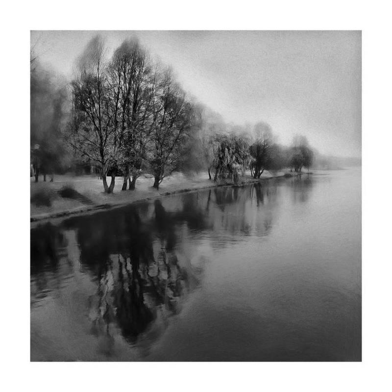 несвиж, парк, беларусь, пейзаж, осень, черно-белое Осеньphoto preview