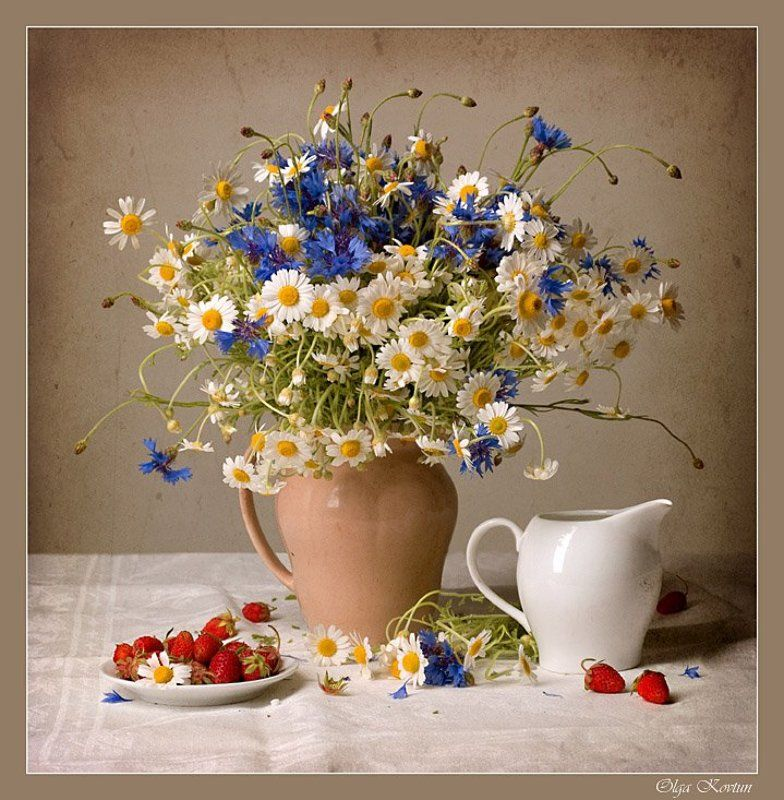 funtry, ромашки, керамика, фарфор, посуда, цветы, букет Ромашкиphoto preview
