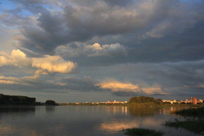 сибирь, лето, вечер, река томь, Тепло заката...photo preview
