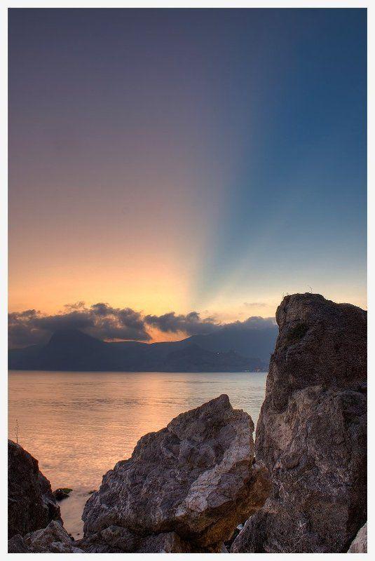 закат, крым, горы, вечер Закат в Судакеphoto preview