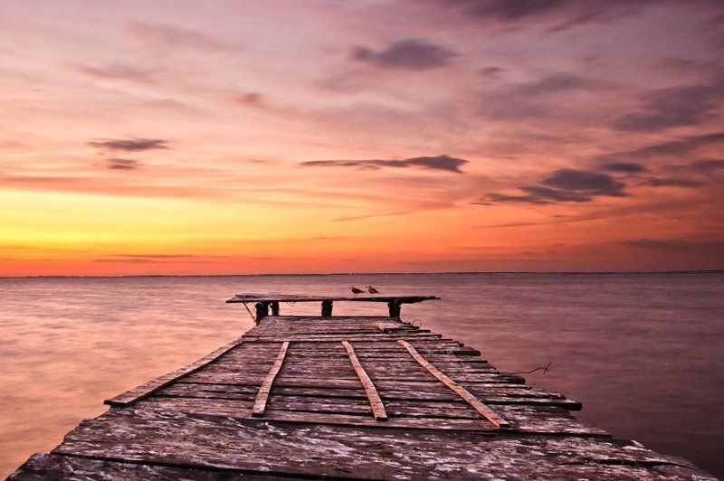 закат, море ***photo preview