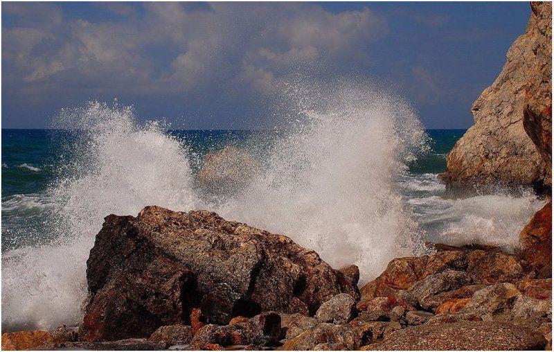 шторм, волна, скалы, море_средиземное Штормит (5)photo preview