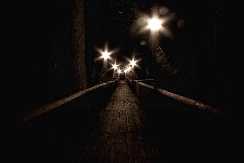 мост, фонарь, деревья ***photo preview