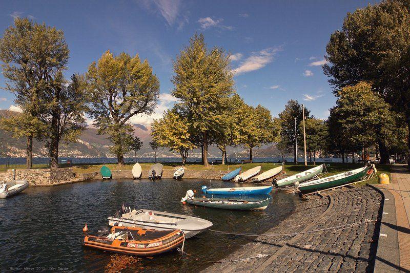 Италия, Альпы, горы, Комо, Дервио Лодочная станцияphoto preview