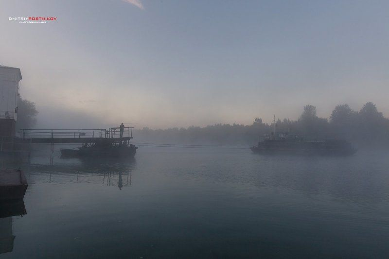 Городской пейзаж, Канал имени Москвы, Лето, Подмосковье, Туман Туман.От \
